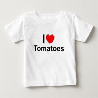 T-shirt Pour Bébé J'aime des tomates de coeur