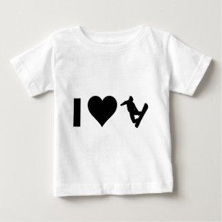 T-shirt Pour Bébé J'aime faire du surf des neiges