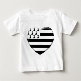 T-shirt Pour Bébé j'aime la Bretagne