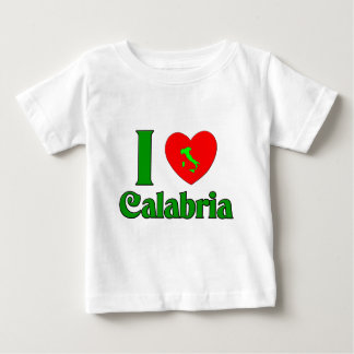 T-shirt Pour Bébé J'aime la Calabre Italie