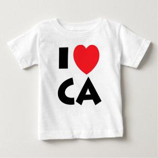 T-shirt Pour Bébé J'aime la Californie