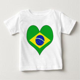 T-shirt Pour Bébé J'aime le Brésil