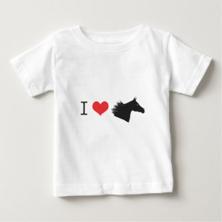 T-shirt Pour Bébé J'aime le cheval