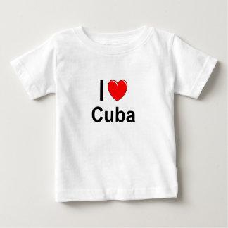 T-shirt Pour Bébé J'aime le coeur Cuba
