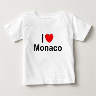 T-shirt Pour Bébé J'aime le coeur Monaco