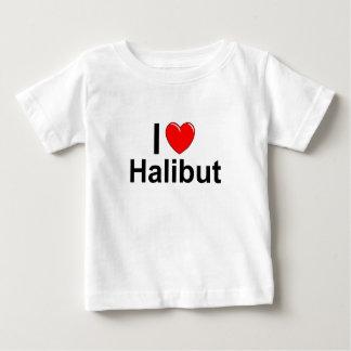 T-shirt Pour Bébé J'aime le flétan de coeur