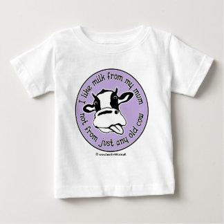 T-shirt Pour Bébé J'aime le lait de ma maman pas simplement