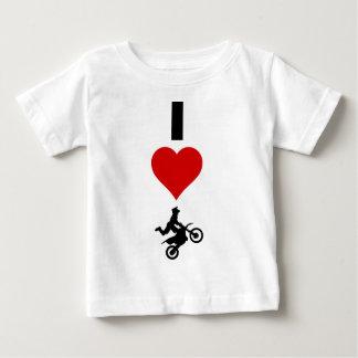 T-shirt Pour Bébé J'aime le motocross (vertical)