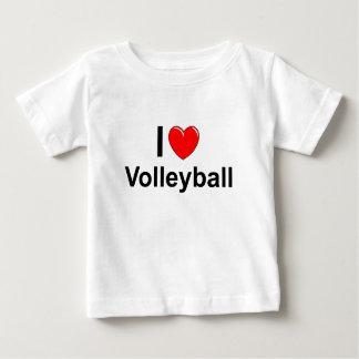 T-shirt Pour Bébé J'aime le volleyball de coeur