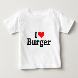 T-shirt Pour Bébé J'aime l'hamburger