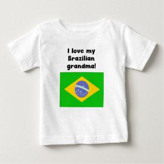 T-shirt Pour Bébé J'aime ma grand-maman brésilienne