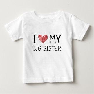 T-shirt Pour Bébé J'aime ma grande soeur