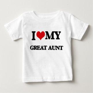T-shirt Pour Bébé J'aime ma grande tante