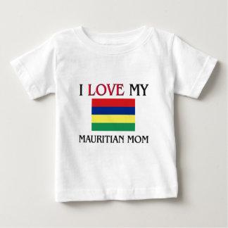 T-shirt Pour Bébé J'aime ma maman mauricienne