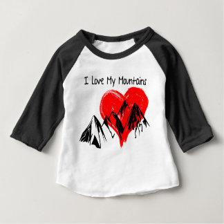 T-shirt Pour Bébé J'aime mes montagnes !