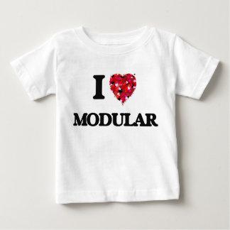 T-shirt Pour Bébé J'aime modulaire