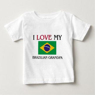 T-shirt Pour Bébé J'aime mon grand-papa brésilien