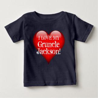 """T-shirt Pour Bébé """"J'aime mon Gruncle (le nom) !"""" avec le grand"""
