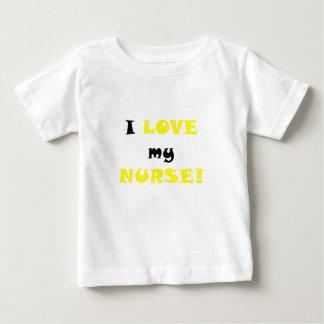 T-shirt Pour Bébé J'aime mon infirmière