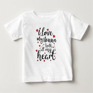 T-shirt Pour Bébé J'aime mon Nonna de tout mon coeur