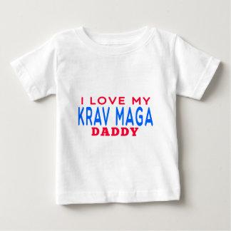 T-shirt Pour Bébé J'aime mon papa de Krav Maga