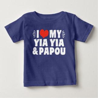 T-shirt Pour Bébé J'aime mon Yia Yia et Papou