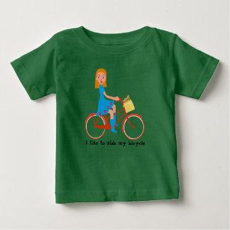 T-shirt Pour Bébé J'aime monter mon vélo