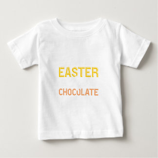 T-shirt Pour Bébé J'aime Pâques, j'obtiens le chocolat