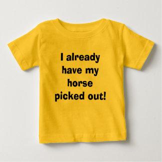 T-shirt Pour Bébé Je fais déjà sélectionner mon cheval !