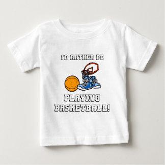 T-shirt Pour Bébé Je jouerais plutôt au basket-ball !