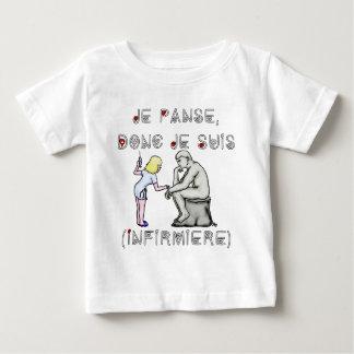 T-shirt Pour Bébé Je panse donc je suis (Infirmière) - Jeux de mots