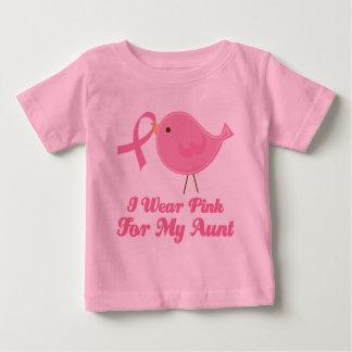 T-shirt Pour Bébé Je porte le rose pour ma tante