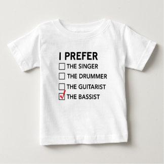 T-shirt Pour Bébé Je préfère… le bassiste