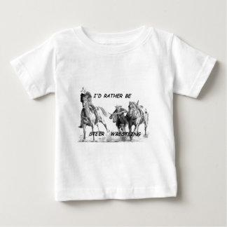 T-shirt Pour Bébé Je serais plutôt boeuf luttant