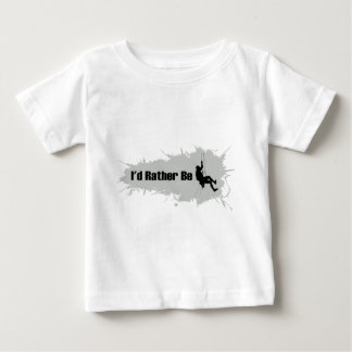 T-shirt Pour Bébé Je serais plutôt l'alpinisme 1