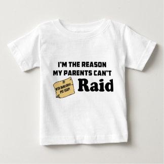 T-shirt Pour Bébé Je suis la raison que mes parents ne peuvent pas