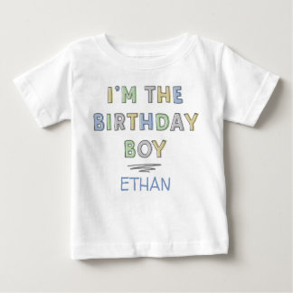 T-shirt Pour Bébé Je suis le garçon d'anniversaire - personnalisé