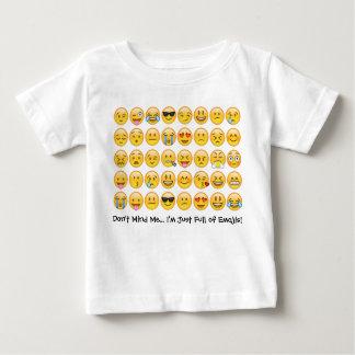 T-shirt Pour Bébé Je suis plein du tee - shirt d'Emoji d'enfant en