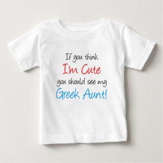 T-shirt Pour Bébé Je suis tante grecque mignonne