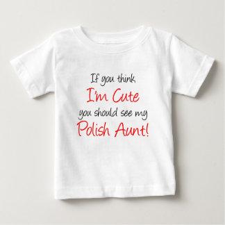 T-shirt Pour Bébé Je suis tante polonaise mignonne