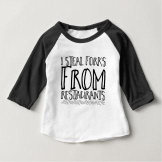 T-shirt Pour Bébé Je vole des fourchettes des restaurants