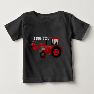 T-shirt Pour Bébé Je vous creuse chemise de garçons de coeurs de