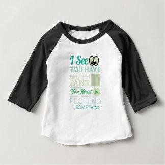 T-shirt Pour Bébé Je vous vois avoir le papier de graphique tracer