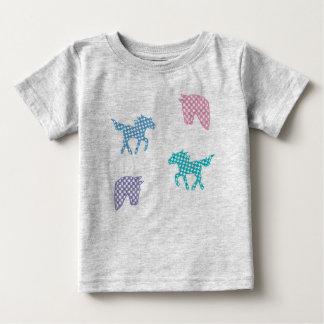 T-shirt Pour Bébé Jersey tee-shirt de chevaux conception de carreau