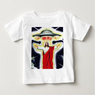 T-shirt Pour Bébé Jésus et un UFO