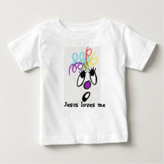 T-shirt Pour Bébé Jésus m'aime monstre fou de cheveux