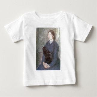 T-shirt Pour Bébé Jeune femme tenant un chat noir - Gwen John