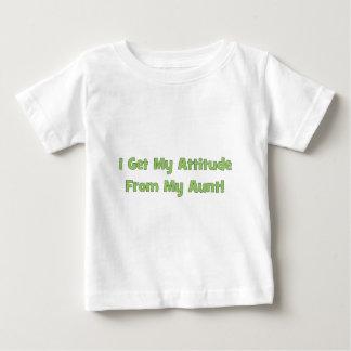 T-shirt Pour Bébé J'obtiens mon attitude de ma tante