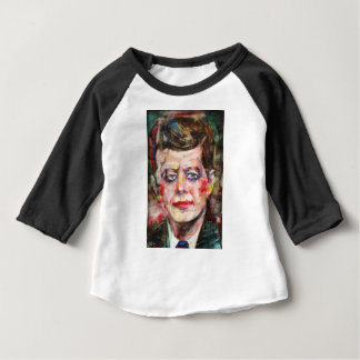 T-shirt Pour Bébé John F. Kennedy - portrait d'aquarelle
