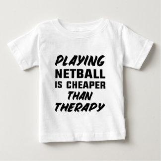 T-shirt Pour Bébé Jouer au net-ball est meilleur marché que la